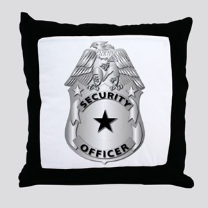 Gov - Security Officer Badge Throw Pillow